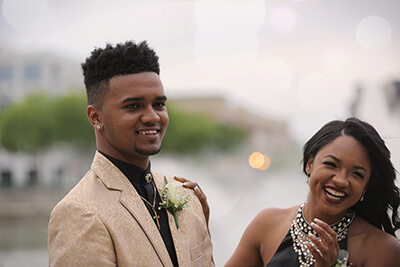Photo of a prom in Detroit